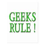 ¡Regla de los frikis!  Verde Tarjetas Postales