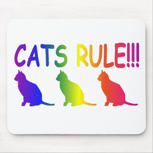 Regla de los gatos alfombrillas de ratón