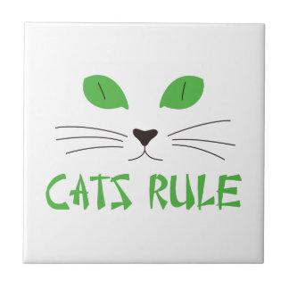 Regla de los gatos azulejo cuadrado pequeño