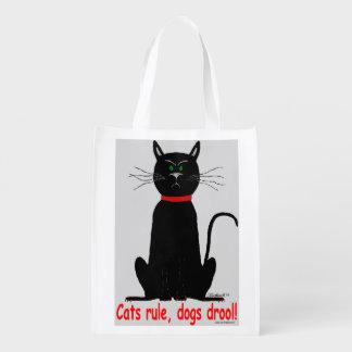 ¡Regla de los gatos! ¡bolso de ultramarinos reutil Bolsa Para La Compra