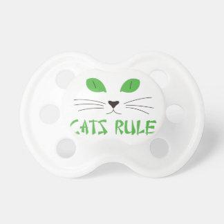 Regla de los gatos chupetes de bebe