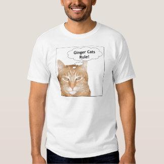 ¡Regla de los gatos del jengibre! Camisas
