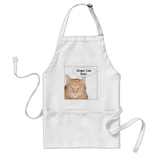¡Regla de los gatos del jengibre! Delantal