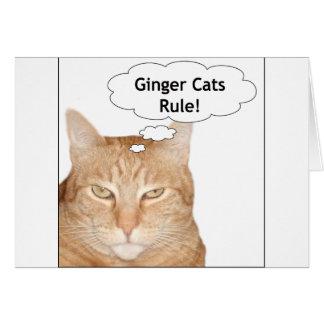 ¡Regla de los gatos del jengibre! Felicitación