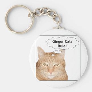 ¡Regla de los gatos del jengibre! Llaveros Personalizados