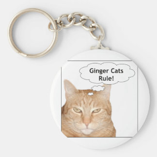 ¡Regla de los gatos del jengibre! Llavero Redondo Tipo Pin