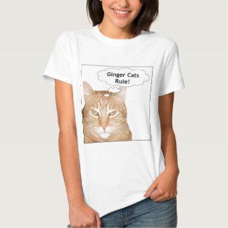 ¡Regla de los gatos del jengibre! Poleras