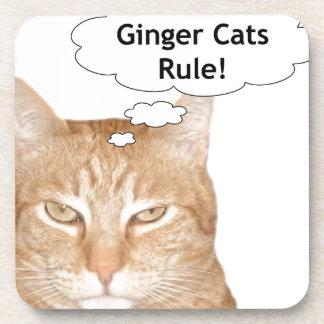 Regla de los gatos del jengibre posavasos