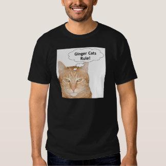 ¡Regla de los gatos del jengibre! Remera