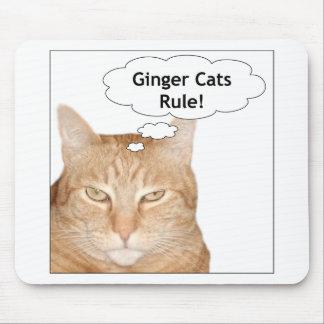 ¡Regla de los gatos del jengibre! Alfombrilla De Ratón