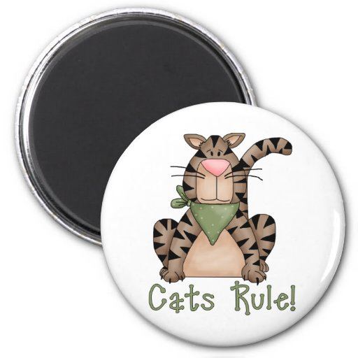 ¡Regla de los gatos! Iman Para Frigorífico
