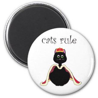 Regla de los gatos imán redondo 5 cm