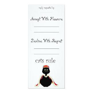 """Regla de los gatos invitación 4"""" x 9.25"""""""