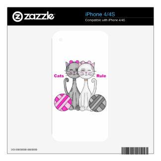 Regla de los gatos iPhone 4S calcomanía