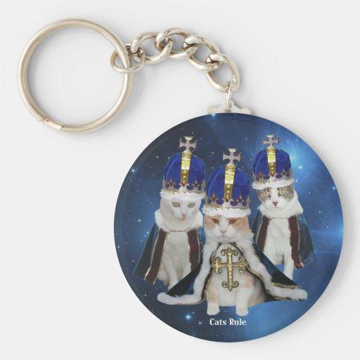 Regla de los gatos llavero personalizado