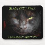Regla de los gatos negros tapete de raton