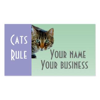 Regla de los gatos plantilla de tarjeta de negocio