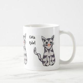 Regla de los gatos taza de café