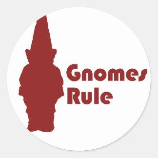 Regla de los gnomos etiquetas redondas