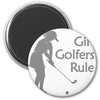 Regla de los golfistas del chica imán redondo 5 cm
