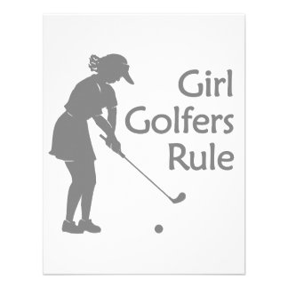 Regla de los golfistas del chica invitación