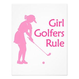 Regla de los golfistas del chica anuncio personalizado
