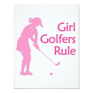 """Regla de los golfistas del chica invitación 4.25"""" x 5.5"""""""
