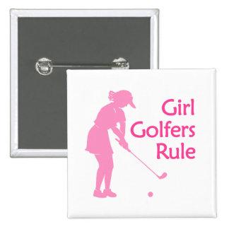 Regla de los golfistas del chica pin cuadrada 5 cm