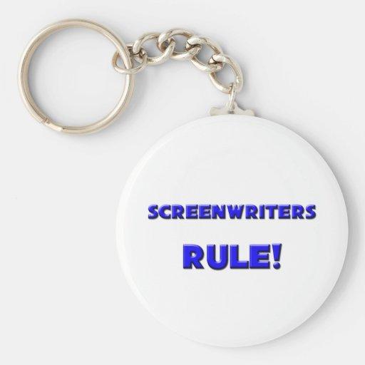 ¡Regla de los guionistas! Llavero Redondo Tipo Pin