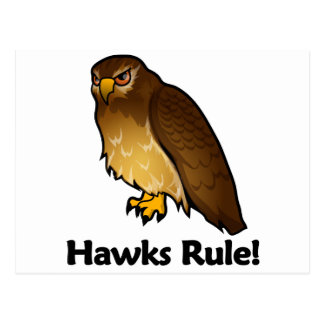 ¡Regla de los halcones! Tarjeta Postal
