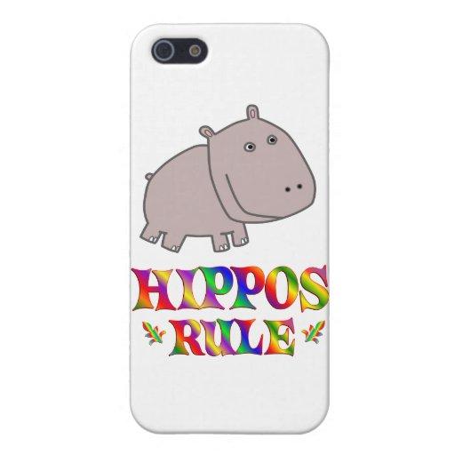 Regla de los hipopótamos iPhone 5 funda