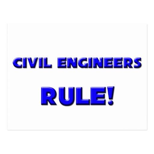 ¡Regla de los ingenieros civiles! Tarjetas Postales