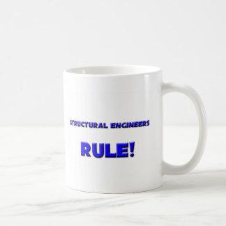 ¡Regla de los ingenieros estructurales! Taza Básica Blanca
