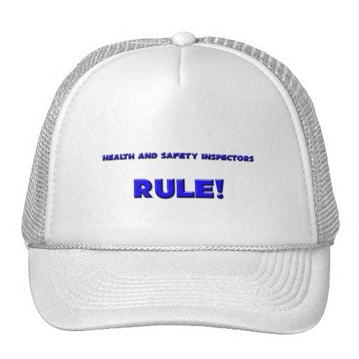 ¡Regla de los inspectores de salud y de la segurid Gorro
