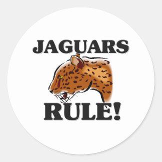 ¡Regla de los JAGUARES! Pegatina Redonda