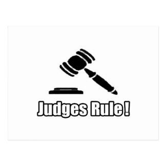 ¡Regla de los jueces! Tarjeta Postal
