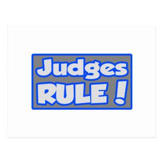 ¡Regla de los jueces! Tarjetas Postales