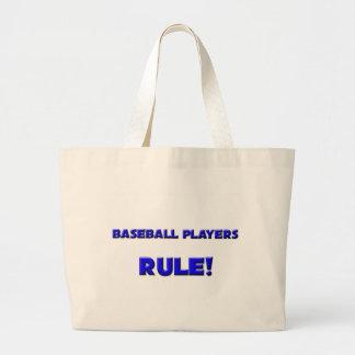 ¡Regla de los jugadores de béisbol! Bolsa Tela Grande