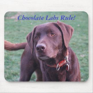 ¡Regla de los laboratorios del chocolate! Alfombrilla De Ratón