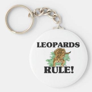 ¡Regla de los LEOPARDOS! Llavero Personalizado