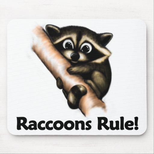 ¡Regla de los mapaches! Alfombrilla De Ratón
