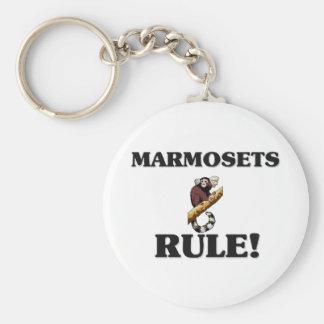 ¡Regla de los MARMOSETS! Llavero Redondo Tipo Pin