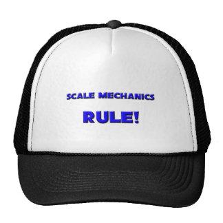 ¡Regla de los mecánicos de la escala! Gorras De Camionero
