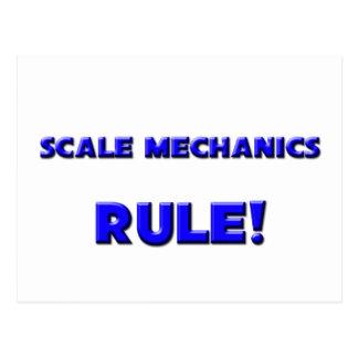¡Regla de los mecánicos de la escala! Postal