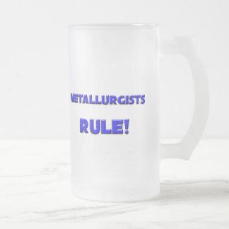 ¡Regla de los metalúrgicos! Taza De Cristal