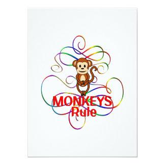 """Regla de los monos invitación 5.5"""" x 7.5"""""""