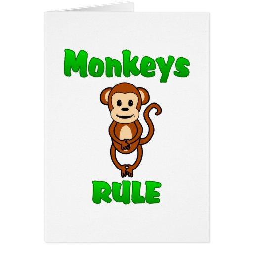 Regla de los monos tarjeta de felicitación