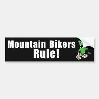 Regla de los motoristas de la montaña etiqueta de parachoque