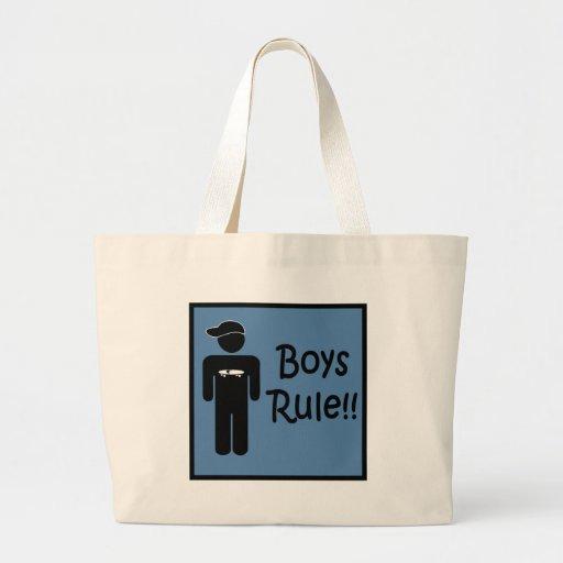 Regla de los muchachos bolsa tela grande