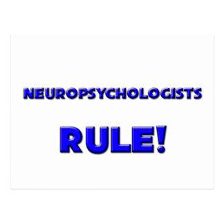 ¡Regla de los neuropsicólogos! Postal